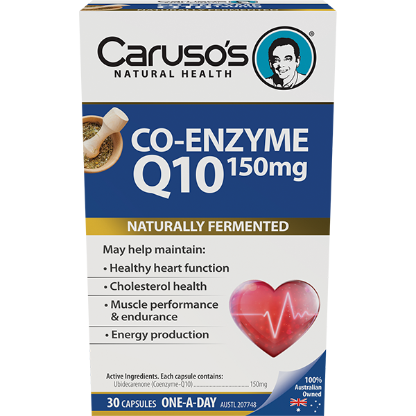 Carusos Natural Health Co-Enzyme Q10 150mg