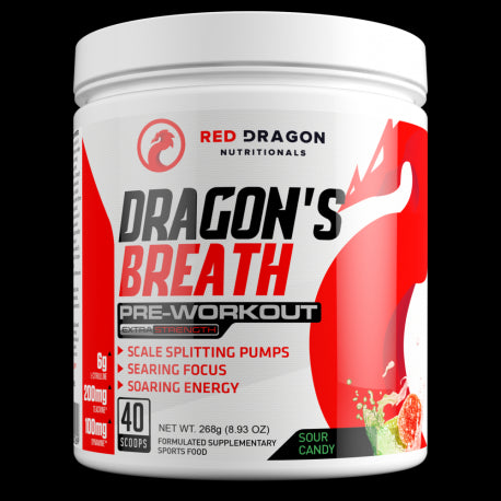 Dragons Breath Pre Workout by Red Dragon Nutritonals
