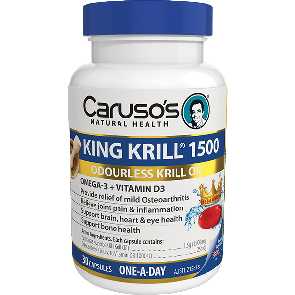 Carusos Natural Health King Krill 1500mg