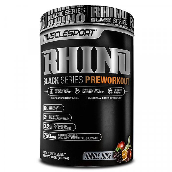 Musclesport RHINO Black Series Pre Workout