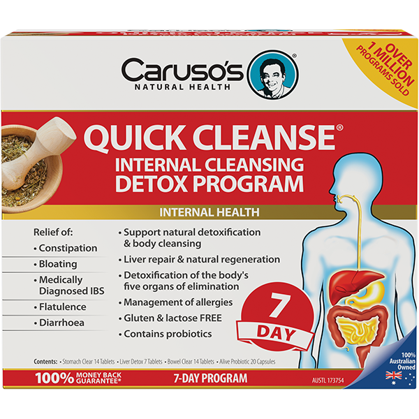 Carusos Natural Health Quick Cleanse 7 day Detox Program + Probiotic