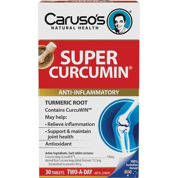 Carusos Natural Health Super Curcumin