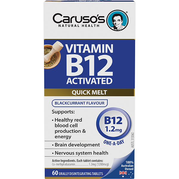 Carusos Natural Health Vitamin B12 Activated 1200mcgs 60s