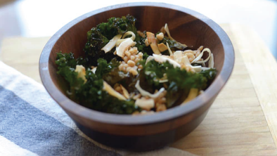 Kale Salad with Toasted Coconut and Sesame