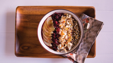 PUMPKIN AND BEET COCONUT AÇAÍ BOWL