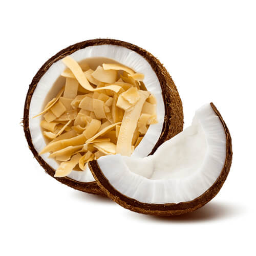 Cracked Fresh Thai Coconut with Coconut Chips