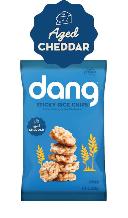 Dang Gluten Free Sticky-Rice Chips - Aged Cheddar