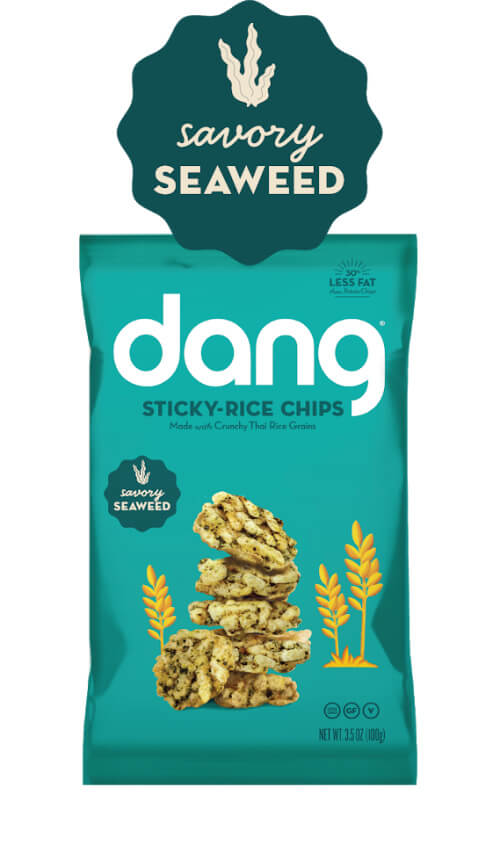 Dang Gluten Free Sticky-Rice Chips - Savory Seaweed