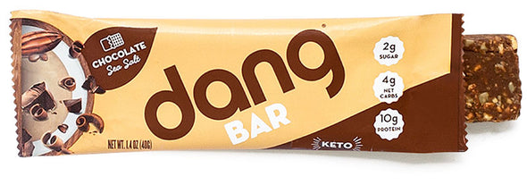 Dang Bar Chocolate Sea Salt Low Carb Low Sugar Perfect Keto Sack