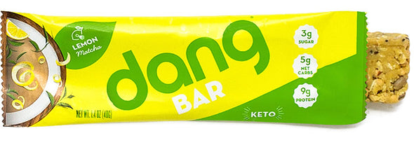 Dang Bar Lemon Matcha Low Carb Low Sugar Perfect Keto Sack