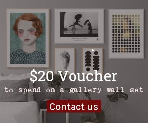 $20 voucher to spend on a gallery wall set