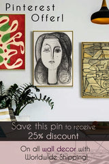 Pinterest offer - save 25% on all wall decor