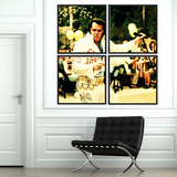 Vintage photographic gallery wall grid of 4 Fat Elvis Impersonator Art prints split into 4 seperate art prints