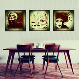 Gallery Wall Vintage style Drag Queen Portrait square art prints