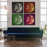 Vintage Pop Art grid gallery wall of 4 Gorilla Square art prints