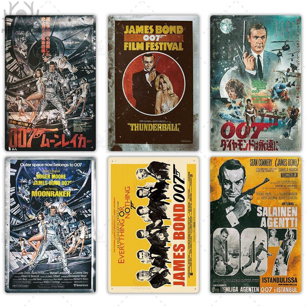 Vintage James Bond Movie Metal Wall Art Poster Signs from Gallery Wallrus | Eclectic Wall Art & Decor with Worldwide Shipping