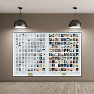 100 Essential Films Chart Art Picture from Gallery Wallrus | Eclectic Wall Art & Decor with Worldwide Shipping