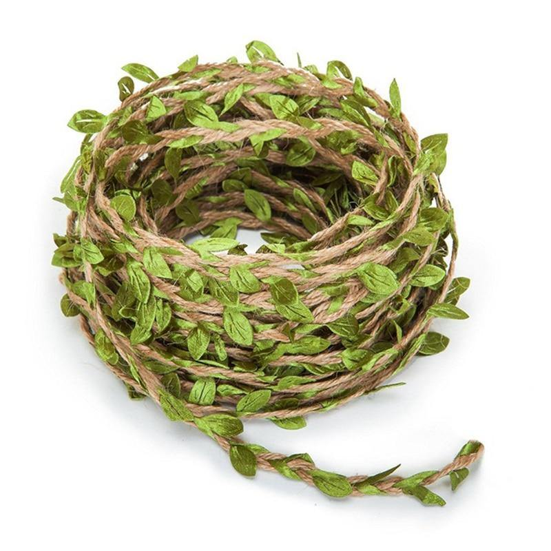 Ivy Rattan Garland Green Leaves (Various Colors) from Gallery Wallrus | Eclectic Wall Art & Decor with Worldwide Shipping