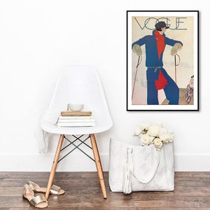 1927 Vogue Skier Mourgue French Winter Artwork from Gallery Wallrus | Eclectic Wall Art & Decor with Worldwide Shipping