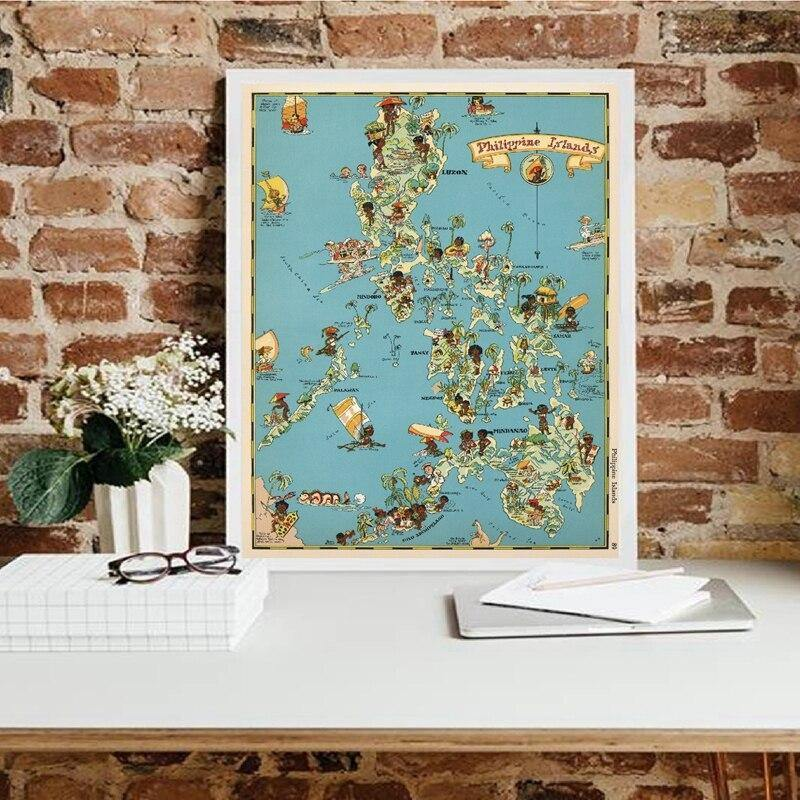 1930 Philippines Islands Whimsical Map Art Print from Gallery Wallrus | Eclectic Wall Art & Decor with Worldwide Shipping