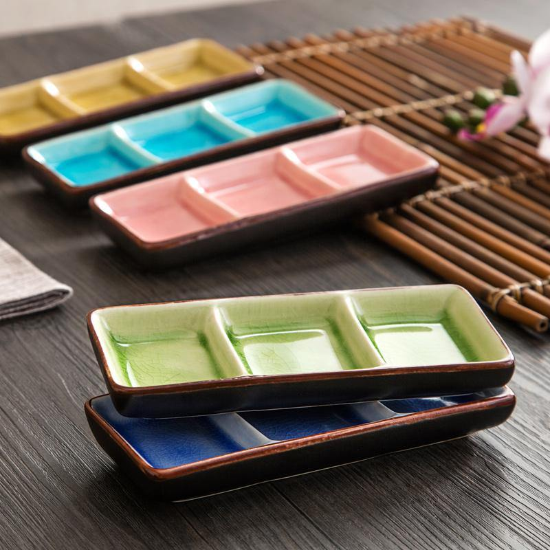 1PCS Japanese Ice crack series ceramic wasabi sauce dish Plate from Gallery Wallrus | Eclectic Wall Art & Decor with Worldwide Shipping