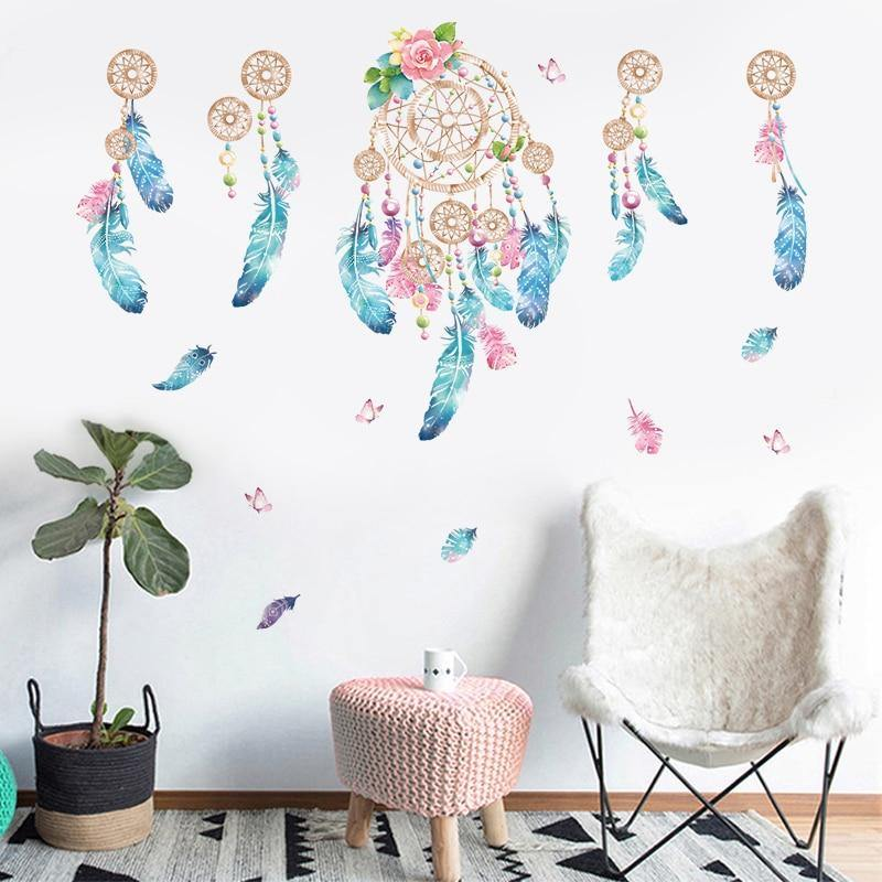 Colorful Dream Catchers Spacetime Wall Stickers from Gallery Wallrus | Eclectic Wall Art & Decor with Worldwide Shipping