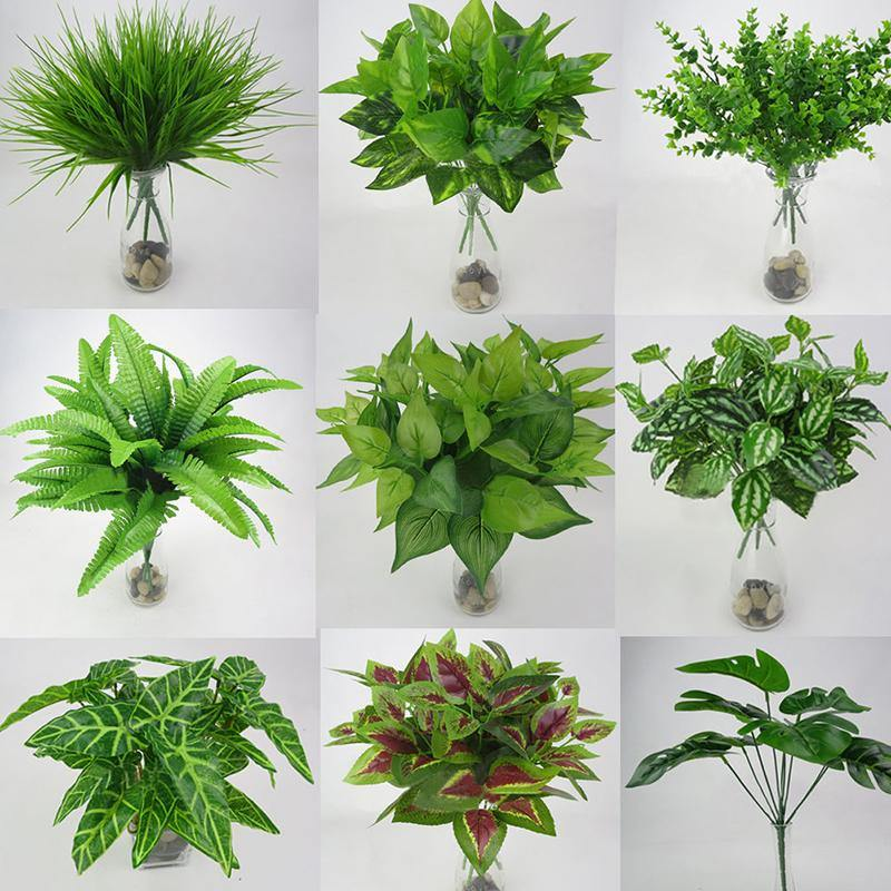 Plastic Leaf Foliage Bush Plants from Gallery Wallrus | Eclectic Wall Art & Decor with Worldwide Shipping