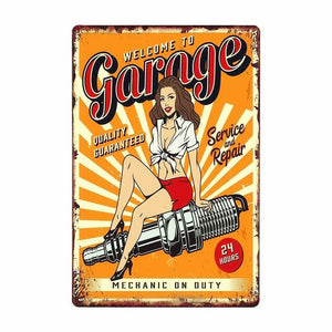 Retro Wall Art Metal Sign Posters: My Garage Rules from Gallery Wallrus | Eclectic Wall Art & Decor with Worldwide Shipping