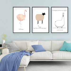 Minimalist Cartoon Animals Mix & Match Art Prints from Gallery Wallrus | Eclectic Wall Art & Decor with Worldwide Shipping