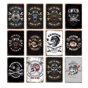 Motorcycle Skull Wolf Metal Wall Art Signs (Mix & Match) from Gallery Wallrus | Eclectic Wall Art & Decor with Worldwide Shipping