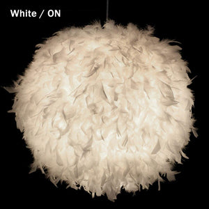 Round Feather Pendant Light from Gallery Wallrus | Eclectic Wall Art & Decor with Worldwide Shipping