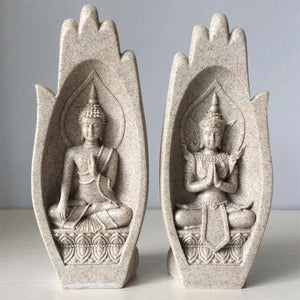 Buddha Monk Statue Figurines from Gallery Wallrus | Eclectic Wall Art & Decor with Worldwide Shipping