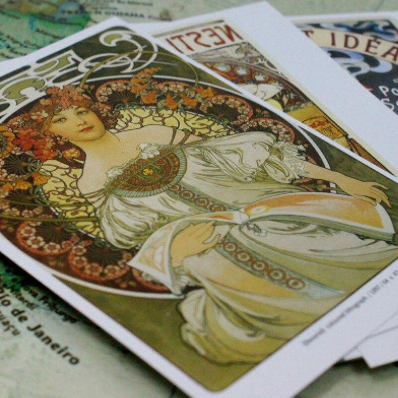 Alphonse Maria Mucha Art Postcards from Gallery Wallrus | Eclectic Wall Art & Decor with Worldwide Shipping