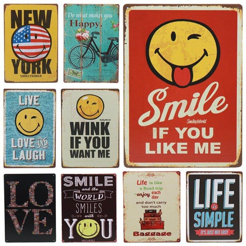 Smile, Life, Love Mix & Match Wall Art Signs from Gallery Wallrus | Eclectic Wall Art & Decor with Worldwide Shipping