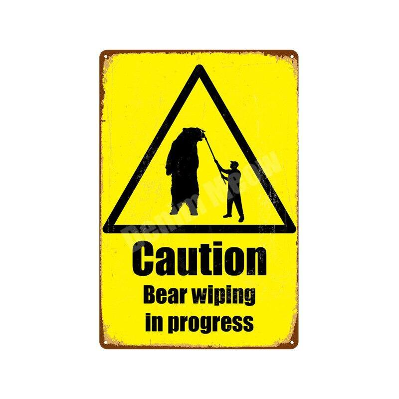 Warning and Toilet Metal Signs from Gallery Wallrus | Eclectic Wall Art & Decor with Worldwide Shipping