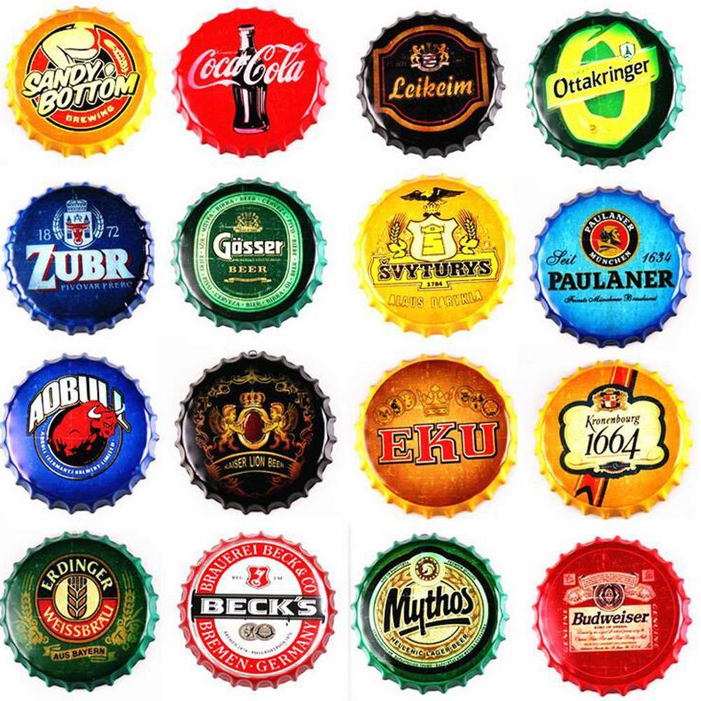 Drinks Bottle Top Metal Wall Signs 35cm Mix & Match from Gallery Wallrus | Eclectic Wall Art & Decor with Worldwide Shipping