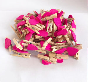 50Pcs Mini Wooden Photo Pegs from Gallery Wallrus | Eclectic Wall Art & Decor with Worldwide Shipping