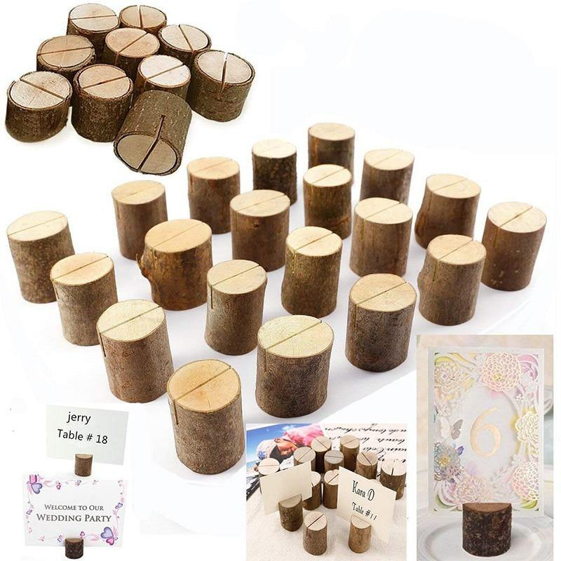50x Wooden Cylindrical Photo Memo Holder from Gallery Wallrus | Eclectic Wall Art & Decor with Worldwide Shipping
