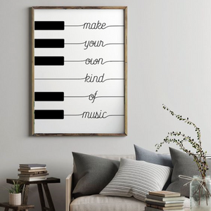 Make Your Own Kind of Music Piano Art Print from Gallery Wallrus | Eclectic Wall Art & Decor with Worldwide Shipping