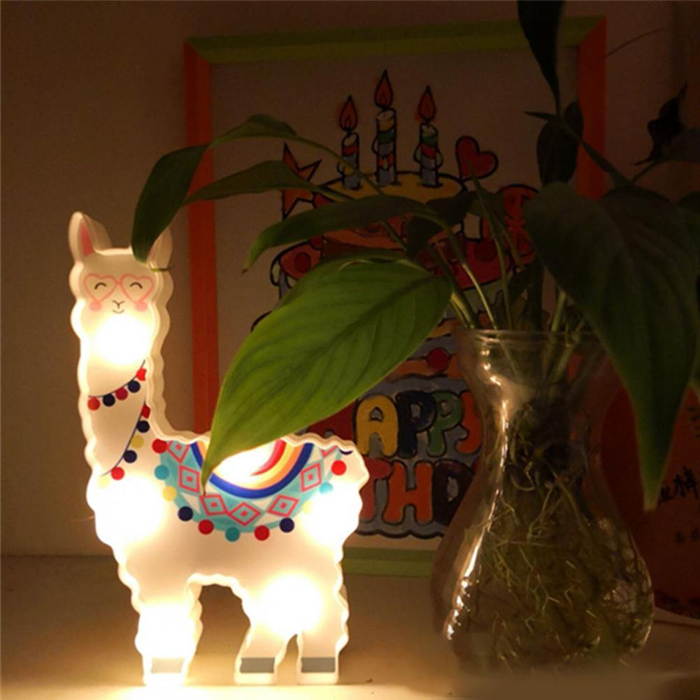 Mini Alpaca Children's Bedroom Night Light from Gallery Wallrus | Eclectic Wall Art & Decor with Worldwide Shipping