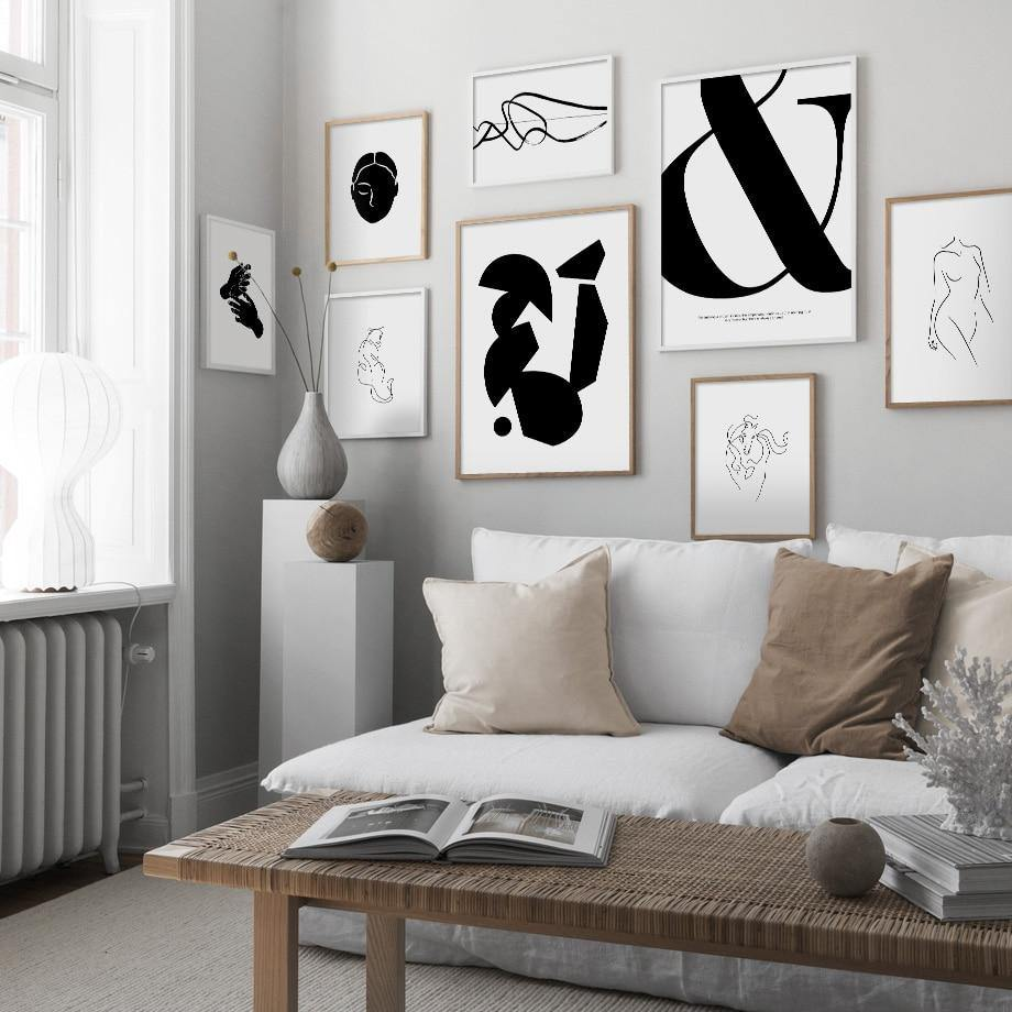 Abstract Black & White Classic Gallery Wall Art Prints from Gallery Wallrus | Eclectic Wall Art & Decor with Worldwide Shipping