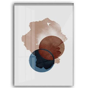 Abstract Blue and Brown Watercolor Art Print Gallery Wall from Gallery Wallrus | Eclectic Wall Art & Decor with Worldwide Shipping