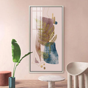Scandinavian Abstract Golden Plants Art Prints from Gallery Wallrus | Eclectic Wall Art & Decor with Worldwide Shipping