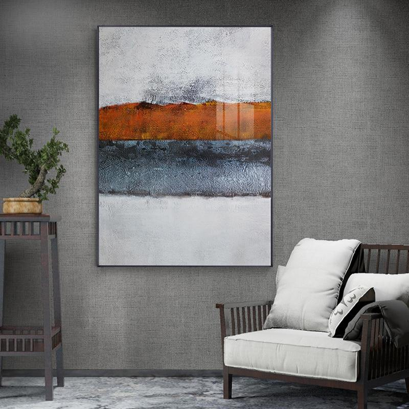 Abstract Burnt Orange Wall Art Painting from Gallery Wallrus | Eclectic Wall Art & Decor with Worldwide Shipping