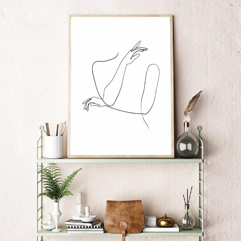 Abstract Body Line Drawing Art Print from Gallery Wallrus | Eclectic Wall Art & Decor with Worldwide Shipping