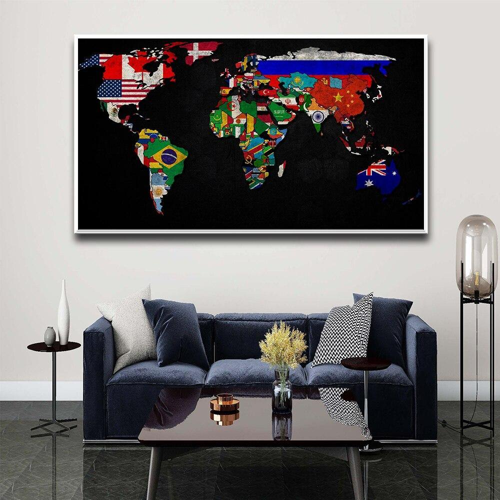 Neon Colors Typography Or Flags World Map Art Prints from Gallery Wallrus | Eclectic Wall Art & Decor with Worldwide Shipping