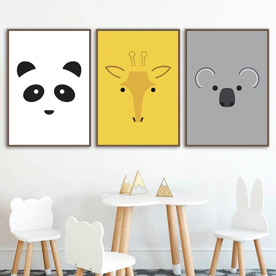 Abstract Fox Deer Panda Animal Gallery Wall Art Prints for Child's Bedroom from Gallery Wallrus | Eclectic Wall Art & Decor with Worldwide Shipping