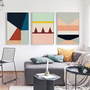Abstract Geometric Block Color Wall Art Print Collection from Gallery Wallrus | Eclectic Wall Art & Decor with Worldwide Shipping