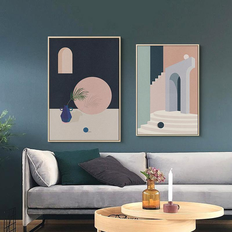 Abstract Summer House Paintings  1 from Gallery Wallrus | Eclectic Wall Art & Decor with Worldwide Shipping
