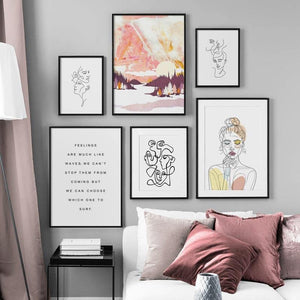 Abstract Modern Feminine Style Gallery Wall Art Pictures from Gallery Wallrus | Eclectic Wall Art & Decor with Worldwide Shipping